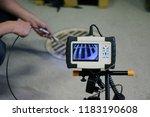 man start using sewer... | Shutterstock . vector #1183190608
