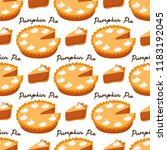 cute seamless pattern with... | Shutterstock . vector #1183192045