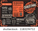 christmas menu template for... | Shutterstock .eps vector #1183194712
