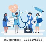 group of medical staff carrying ...   Shutterstock .eps vector #1183196938
