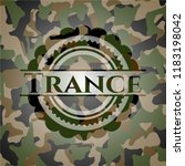 trance on camo pattern   Shutterstock .eps vector #1183198042