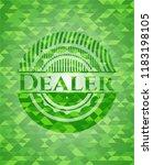 dealer green mosaic emblem | Shutterstock .eps vector #1183198105