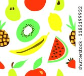 fruit illustration. banana ... | Shutterstock .eps vector #1183199932
