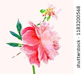 a picturesque peony flower.... | Shutterstock .eps vector #1183200568