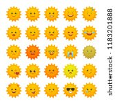 yellow sun emoticons isolated... | Shutterstock .eps vector #1183201888