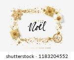 french text joyeux noel.... | Shutterstock .eps vector #1183204552