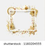 design christmas frame with... | Shutterstock .eps vector #1183204555