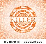 killer orange tile background... | Shutterstock .eps vector #1183208188