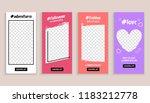 instant gram story template...   Shutterstock .eps vector #1183212778