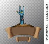 vector blue cartoon zombie hand ...   Shutterstock .eps vector #1183212835