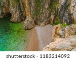 landscape of adriatic sea in... | Shutterstock . vector #1183214092