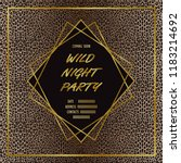 wild party invitation card with ... | Shutterstock .eps vector #1183214692