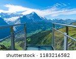 sky cliff walk on first peak of ... | Shutterstock . vector #1183216582