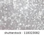 abstract white bokeh lights on... | Shutterstock . vector #118323082