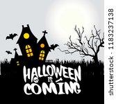 halloween is comming typography ... | Shutterstock .eps vector #1183237138