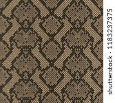 snake skin beige and brown... | Shutterstock .eps vector #1183237375