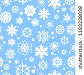 snowflakes seamless vector...   Shutterstock .eps vector #1183238038