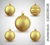 christmas decorative gold...   Shutterstock .eps vector #1183238128