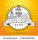 minimal cape town city linear... | Shutterstock .eps vector #1183240462