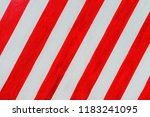 red and white road marking | Shutterstock . vector #1183241095