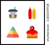 hot icon. mustard and ketchup... | Shutterstock .eps vector #1183245928