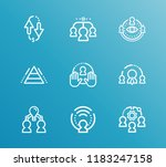 hr icon set and team members... | Shutterstock .eps vector #1183247158