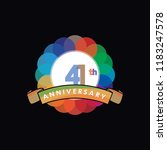 forty one anniversary logo... | Shutterstock .eps vector #1183247578