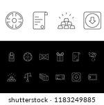 commercial icon set and wallet...