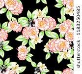 flower print in bright colors....   Shutterstock .eps vector #1183250485