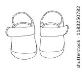 sketch of shoes for the baby. a ...   Shutterstock .eps vector #1183250782