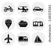 vector black transportation... | Shutterstock .eps vector #118325362