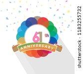 sixty one anniversary logo... | Shutterstock .eps vector #1183255732