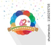 sixty two anniversary logo... | Shutterstock .eps vector #1183255735