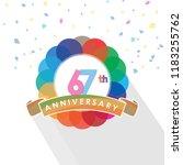 sixty seven anniversary logo... | Shutterstock .eps vector #1183255762