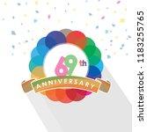 sixty nine anniversary logo... | Shutterstock .eps vector #1183255765