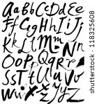 vector alphabet. hand drawn... | Shutterstock .eps vector #118325608