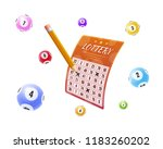 lottery tickets  bingo  lotto ... | Shutterstock .eps vector #1183260202