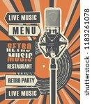 vector banner or restaurant... | Shutterstock .eps vector #1183261078