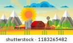 abstract vector countryside... | Shutterstock .eps vector #1183265482