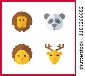 wildlife icon. panda and lion... | Shutterstock .eps vector #1183266682
