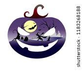 halloween vector color... | Shutterstock .eps vector #1183268188