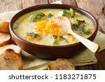 spicy thick creamy broccoli...   Shutterstock . vector #1183271875