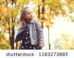 cute little girl playing in... | Shutterstock . vector #1183273885