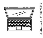 laptop computer isolated icon | Shutterstock .eps vector #1183274455