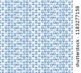 blue watercolor seamless... | Shutterstock . vector #1183277158