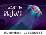 i want to believe. cartoon... | Shutterstock .eps vector #1183280965