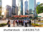singapore   july 13  2018 ... | Shutterstock . vector #1183281715