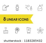 cosmetology icons set with... | Shutterstock .eps vector #1183285432