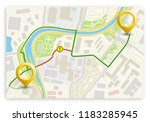 city map navigation route ... | Shutterstock .eps vector #1183285945