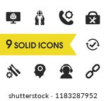 help icons set with checkbox... | Shutterstock .eps vector #1183287952